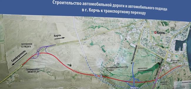 Схема керченского моста со стороны керчи